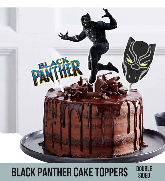 Printable Black Panther Cake Toppers Double Sided 3 Toppers
