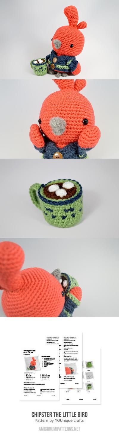 Chipster the Little Bird amigurumi pattern by YOUnique crafts ...