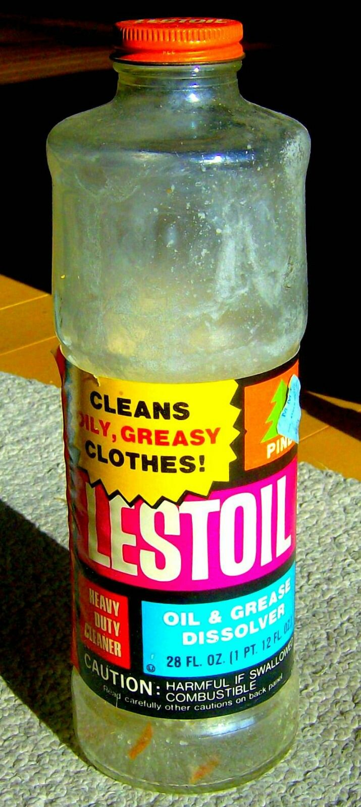 Lestoil Heavy Duty Cleaner 1973 Bottle Vintage Packaging Vintage Advertisements Vintage Laundry