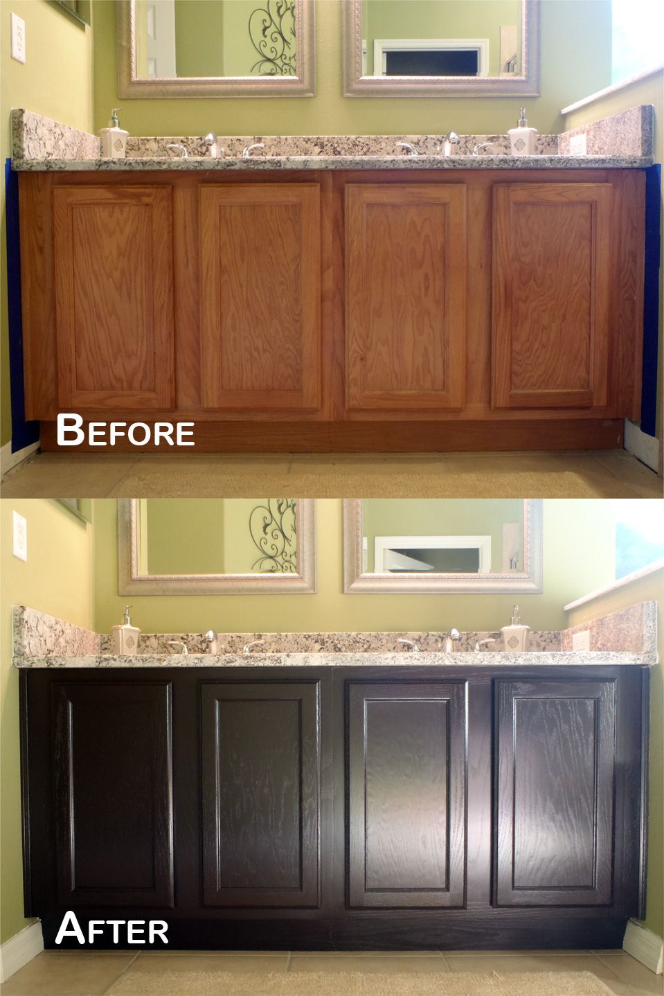 Java Gel Stain Amazing Transformation Stained Kitchen Cabinets Staining Cabinets Kitchen Cabinets Makeover
