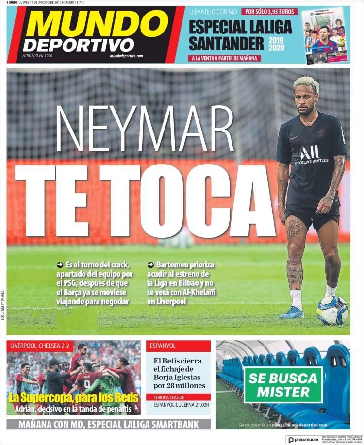 20190815 Periódico El Mundo Deportivo (España