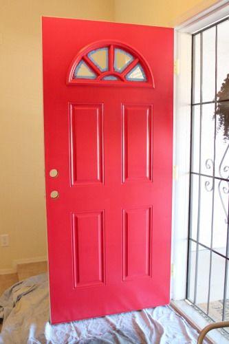 Paint Your Front Door Red Geranium By Behr