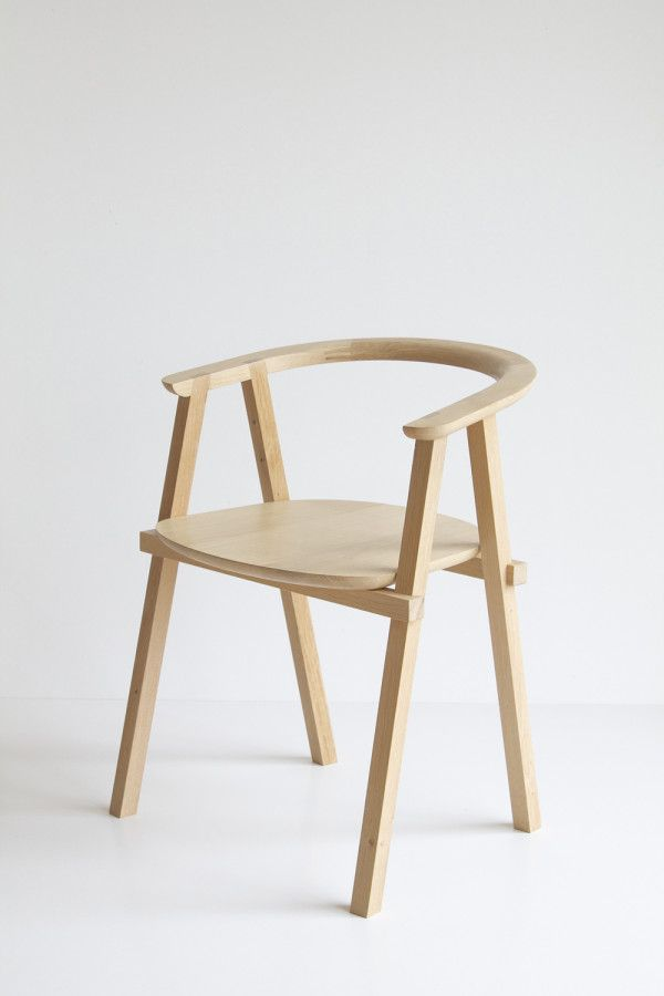 Oak Wood Minimalist Chair by Oato