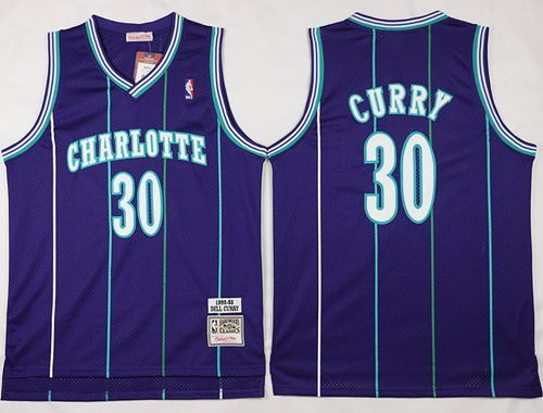 b8b8caf58 Mitchell And Ness Charlotte Hornets  30 Dell Curry Purple Throwback  Stitched NBA Jerseys