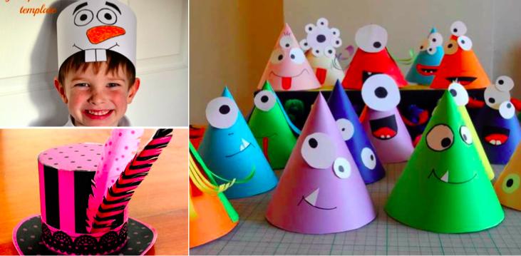 magasiner pour l'original luxe les mieux notés 30 chapeaux rigolos à faire avec vos enfants | Chapeaux en ...