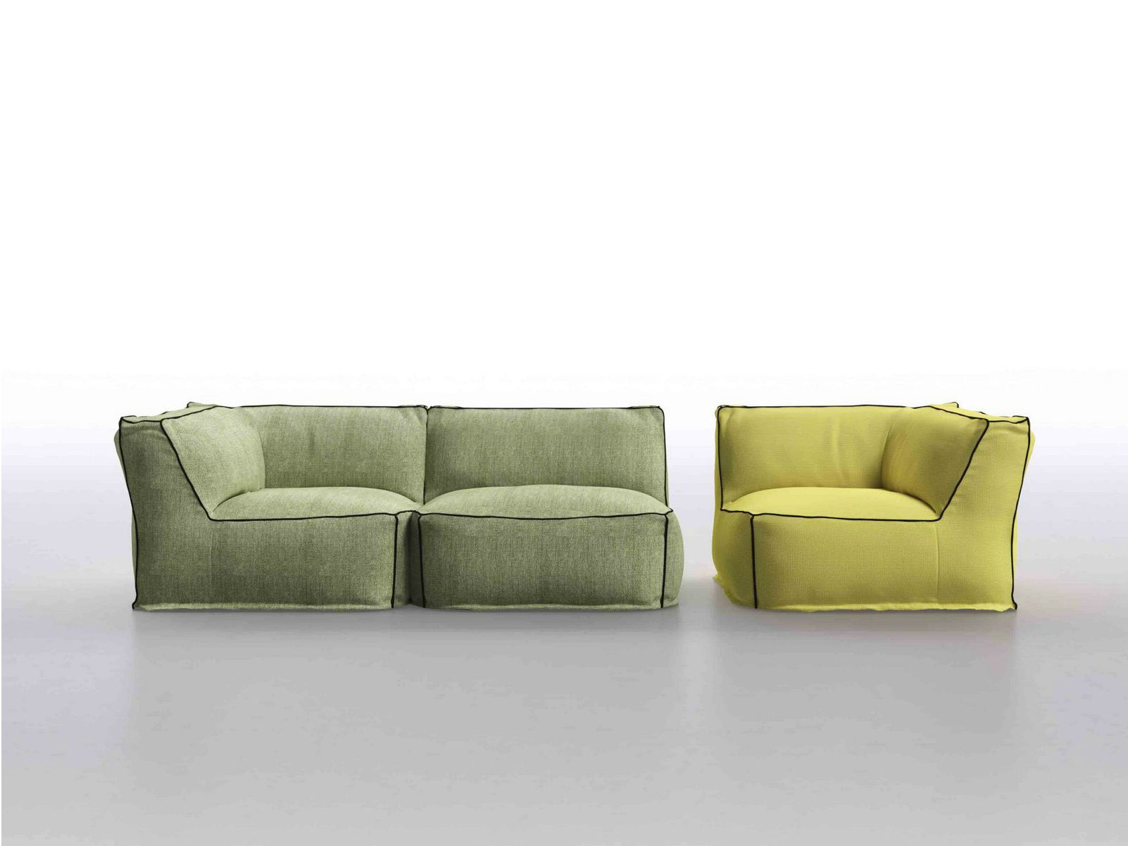 Sectional Upholstered Fabric Garden Sofa Soft Sectional