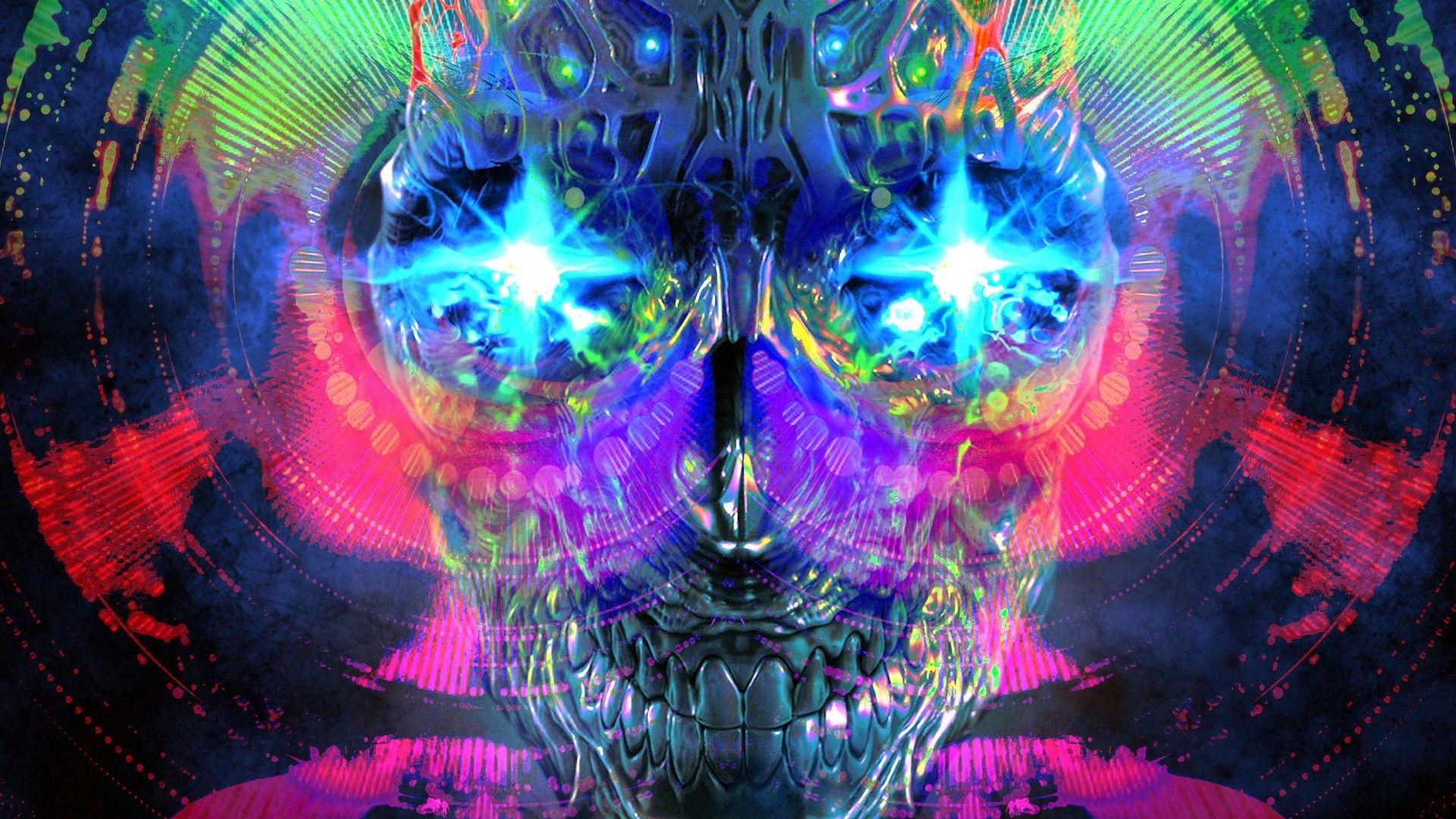 Wallpapers Psychedelic Art Psychedelic Art Art Skull Wallpaper