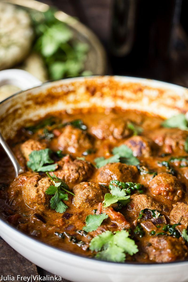 Indian Spiced Meatballs in Curry Sauce | Rezept | Fleisch, Lecker ...