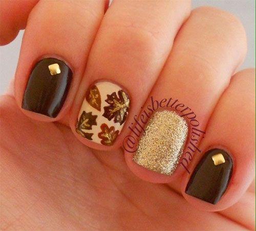 15 Cute Easy Fall Nail Art Designs, Ideas, Trends Stickers 2014 | Autumn Nails