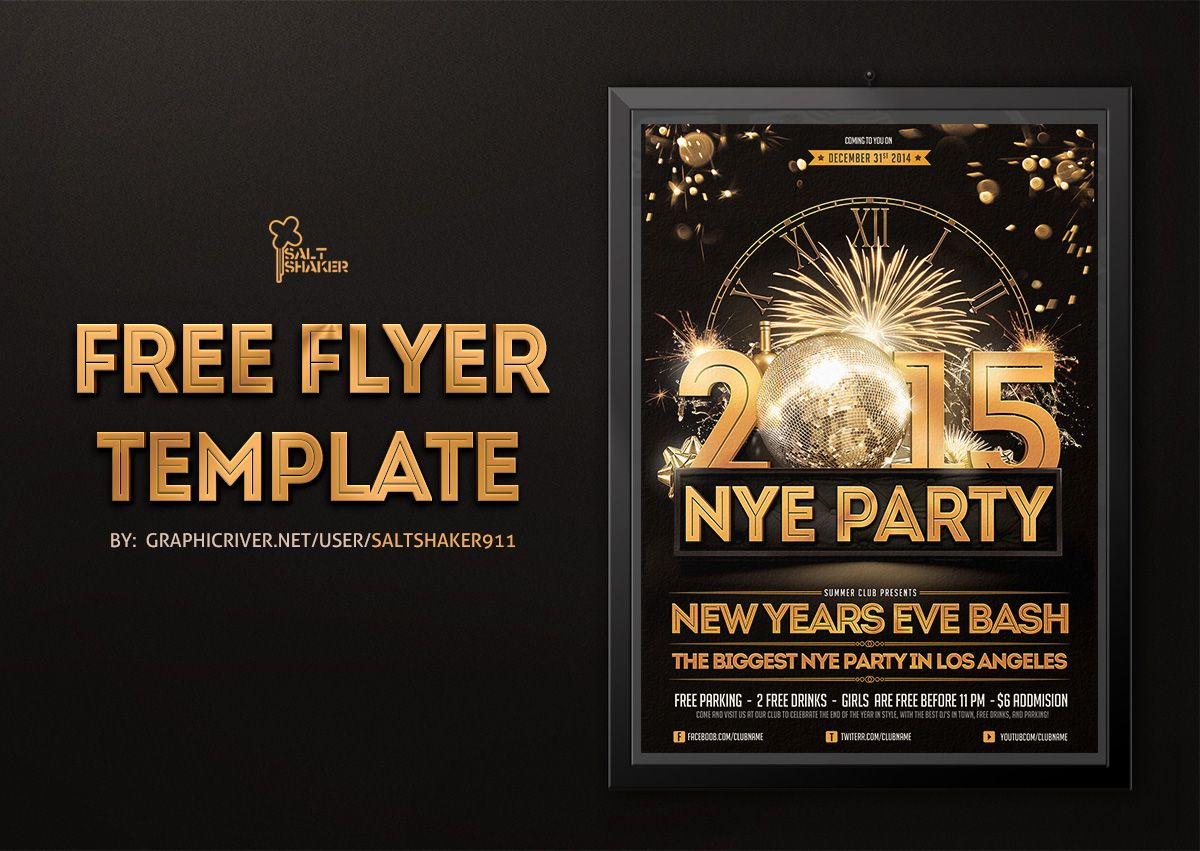New years Eve flyer template by saltshaker911 New year's
