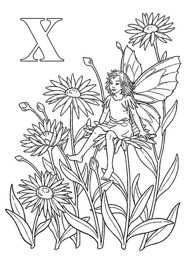 Раскраска цветы в 2020 г | Феи раскраска, Раскраски ...