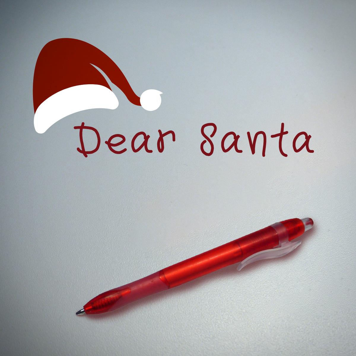 Printable Dear Santa letter Kids Christmas Wishlist