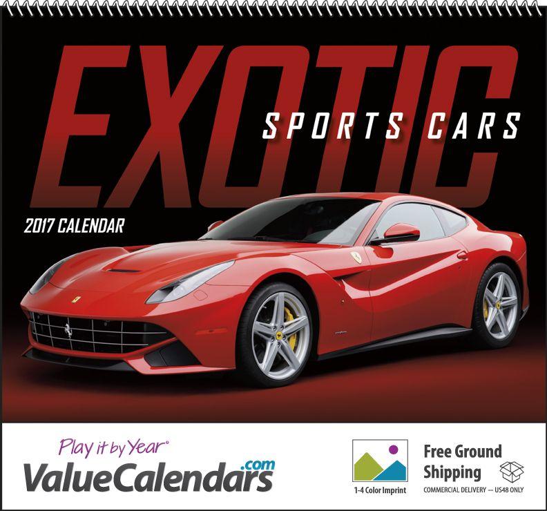 Exotic Sports Cars Spiral Calendar X Custom - Sports cars calendar 2018