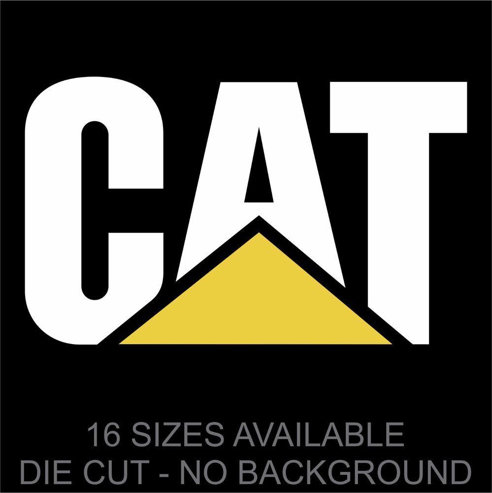Caterpillar sticker decal 16 sizes wall tractor truck car vinyl logo emblem printexdesign aesthetic