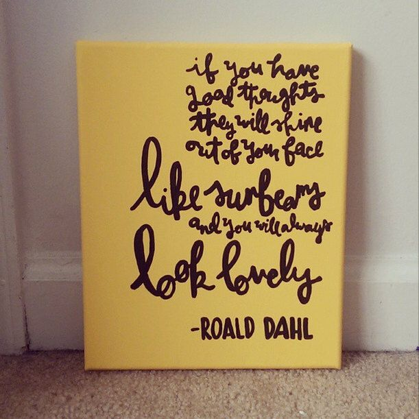 Roald Dahl Sunbeams and Happiness Canvas Quote Art by QuotesOfNote ...