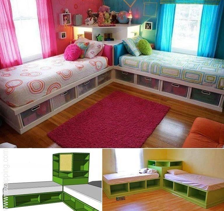 Habitaci n compartida para ni o y ni a kids pinterest - Armarios para habitacion nina ...