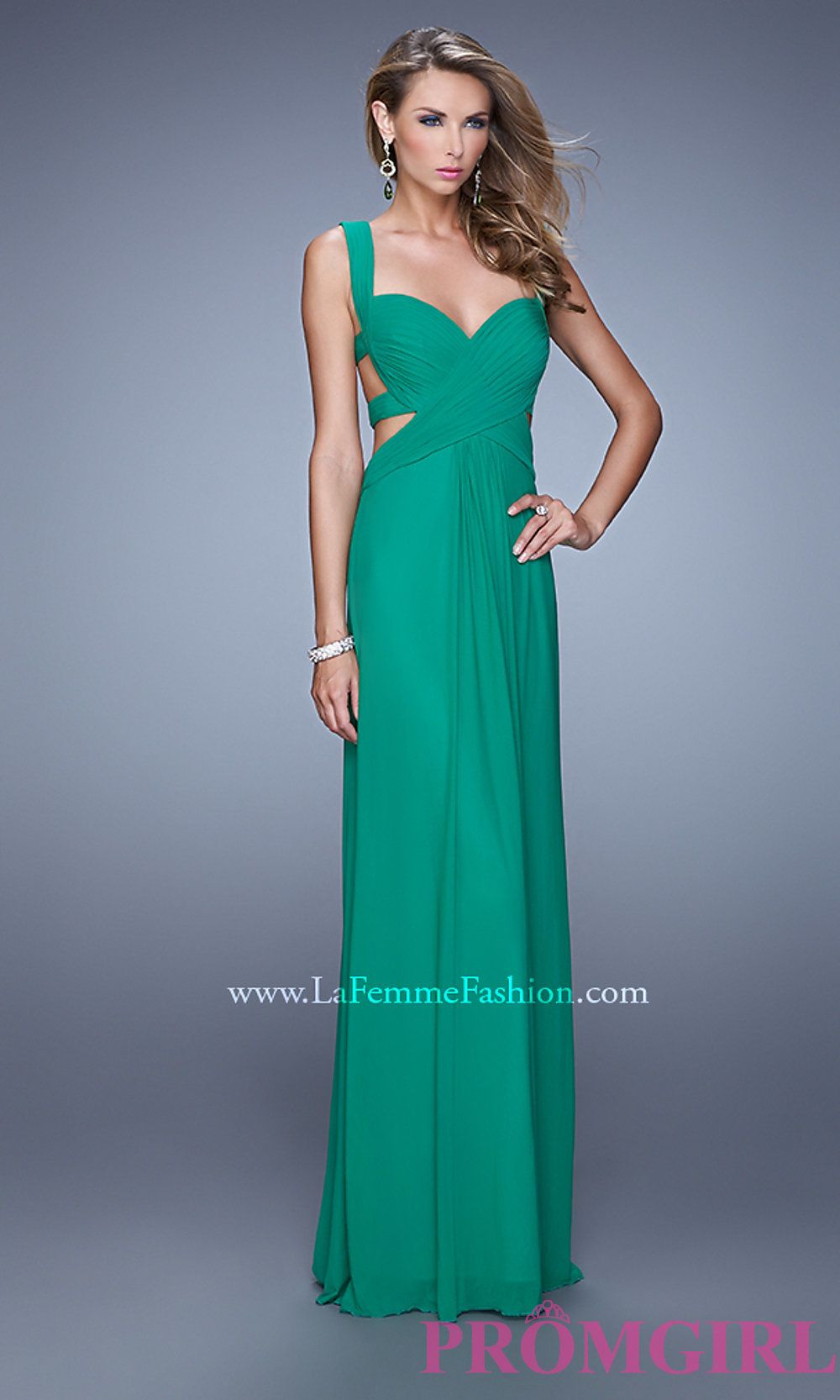 Image of La Femme Sweetheart Gown with Open Back Style: LF-21160 ...