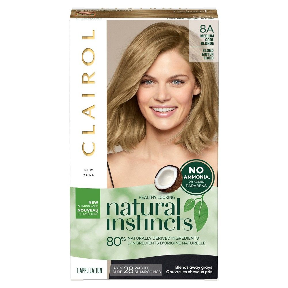 Clairol Natural Instincts Non Permanent Hair Color 8a Medium