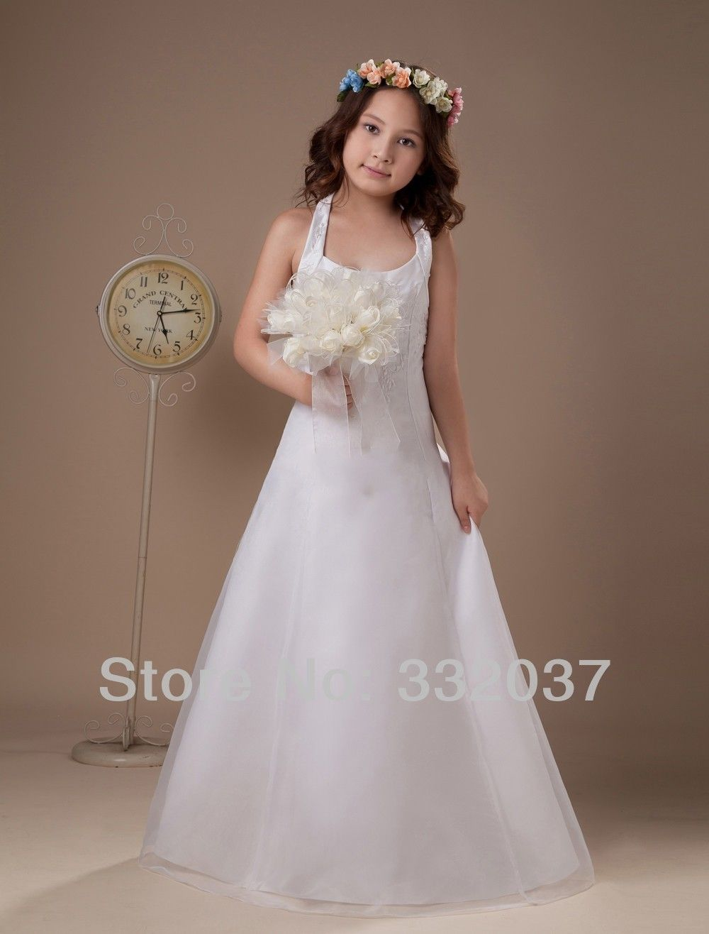 Wholesale simple design retro little girls pageant dresses