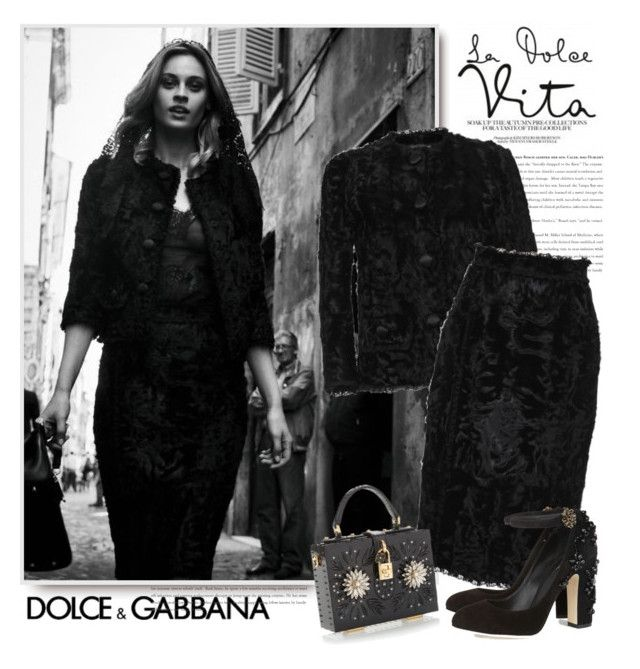 """""""Dolce & Gabbana FW 2015"""" by sella103 ❤ liked on Polyvore"""