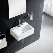 Vitreous China Rectangular Wall Mount Bathroom Sink #Bathroom #China #Mount #Rec