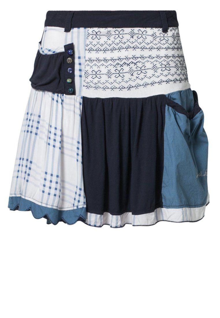 Desigual SINNOM Veckad kjol Blått | Skirts, Blue