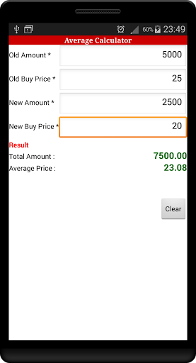 This app contains calculators used to calculate various stock market trading values. The app consists of following type of calculators<p>1. Average Calculator<br>2. Percentage Calculator<br>3. Percentage Changed Calculator <br>4. Compound Interest Calculator<br>5. Fibonacci Retracement Calculator<br>6. Pivot Point Calculator<br>7. Profit / Loss Calculator  http://Mobogenie.com