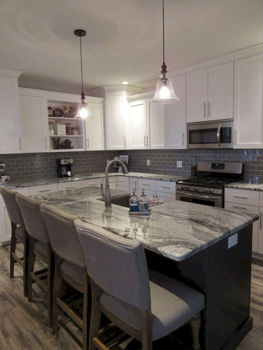 amazing modern farmhouse kitchen makeover decor ideas 13 grey kitchen cabinets white shaker on farmhouse kitchen maple cabinets id=76206