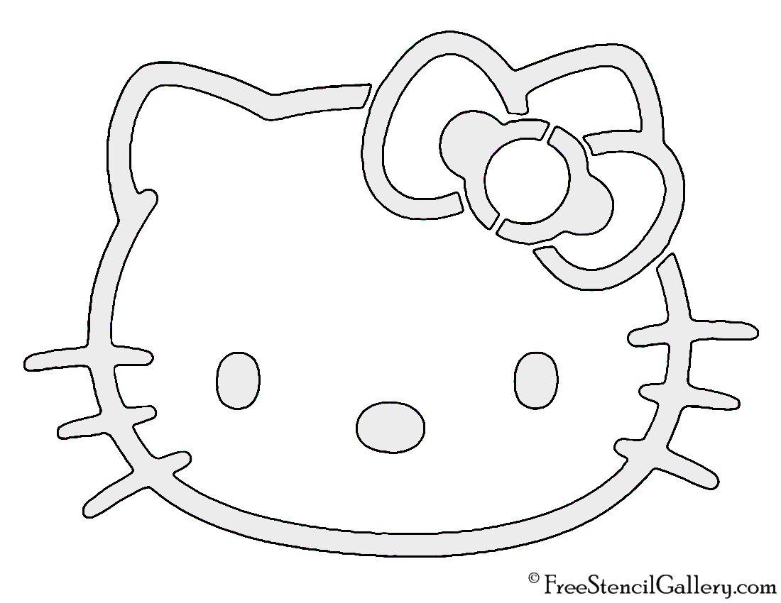 Hello Kitty Stencil Hello Kitty Printables Hello Kitty Birthday Invitations Hello Kitty Coloring