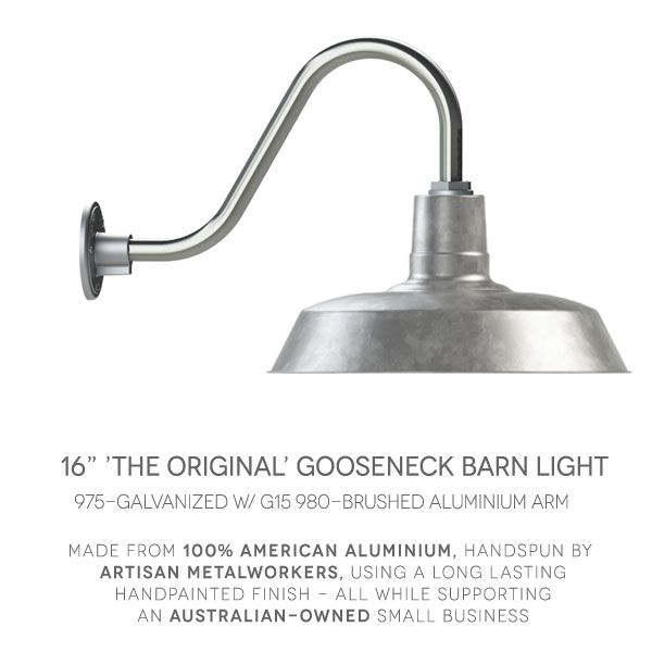 The design of original gooseneck light dates to when industrial lighting was made for warehouses with industrial vintage and rustic lighting making