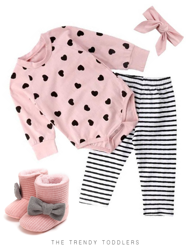 43540c4437d21 Pink Hearts Set | The Trendy Toddlers collection | Kids fashion boy ...