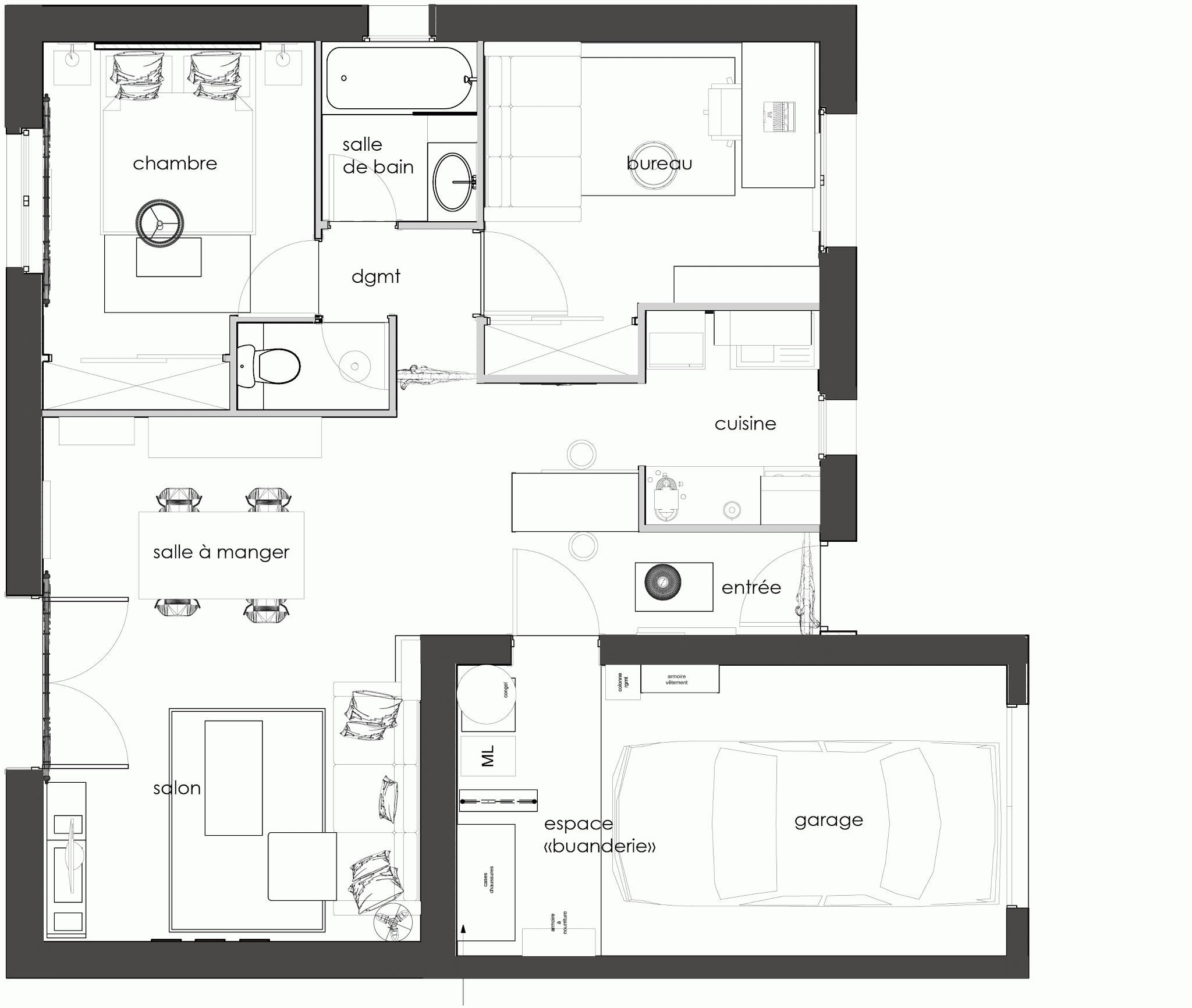 16 Plan Maison R 1 150m2 Senegal In 2020 How To Plan Good Company Floor Plans