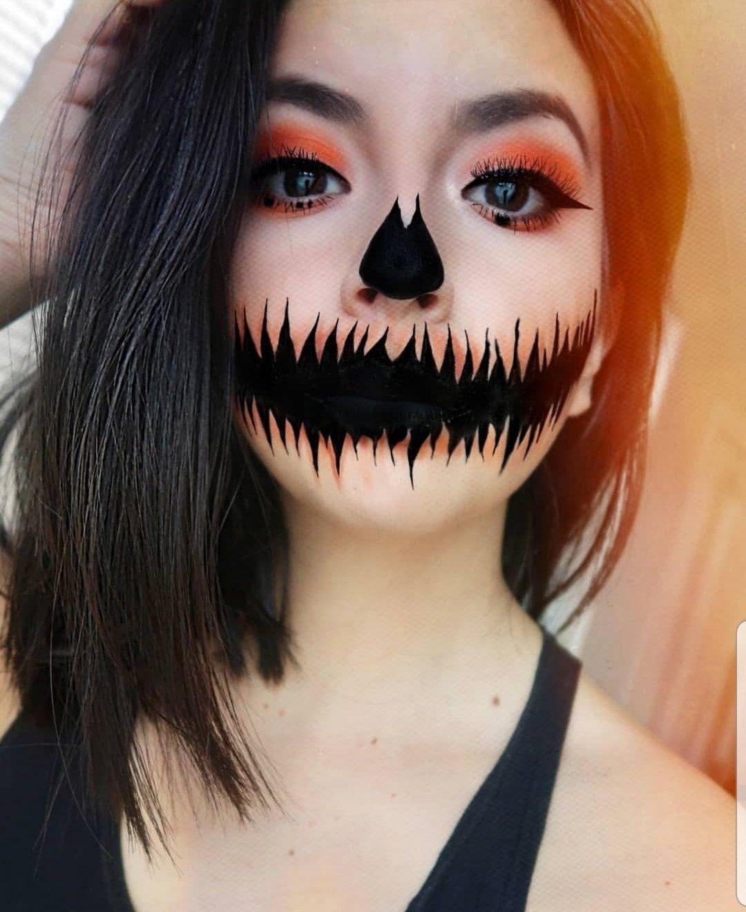 Halloween pumpkin Makeup Halloween pumpkin makeup