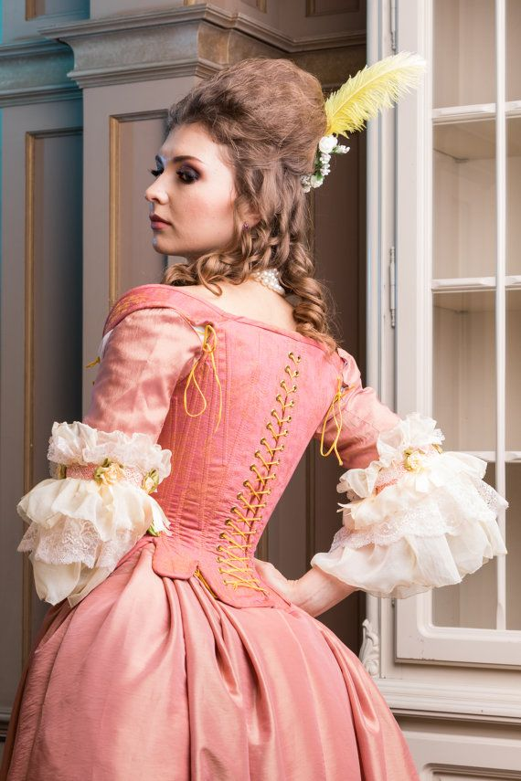 Rose Rococo costume pink wedding dress made to order | Vestido de ...