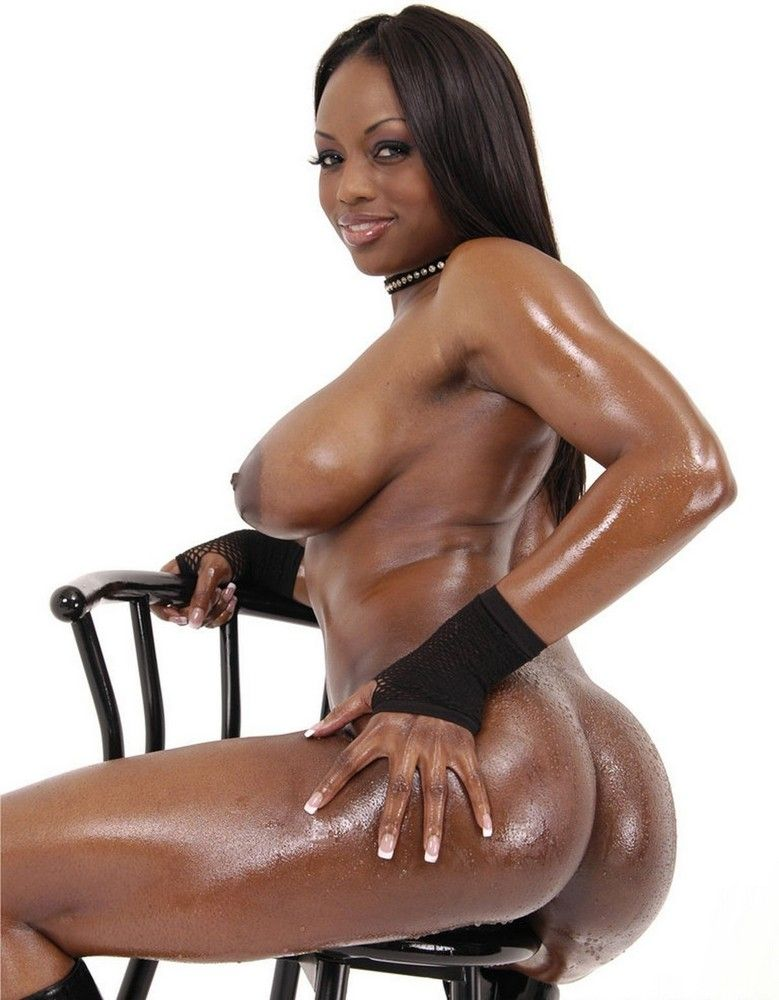 Oiled black tits, ass to mouth movies