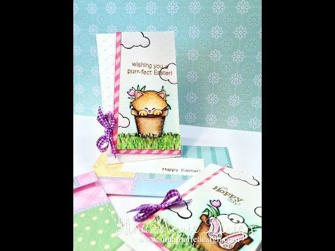 Seed Packet Easter Cards - YouTube  Bunny Hop Stamp set by Newton's Nook Designs