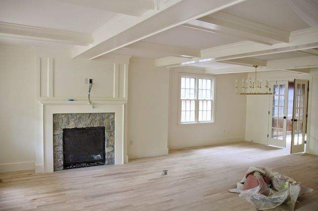 Trim And Walls Are Benjamin Moore Navajo White With Satin Finish On Eg Shel