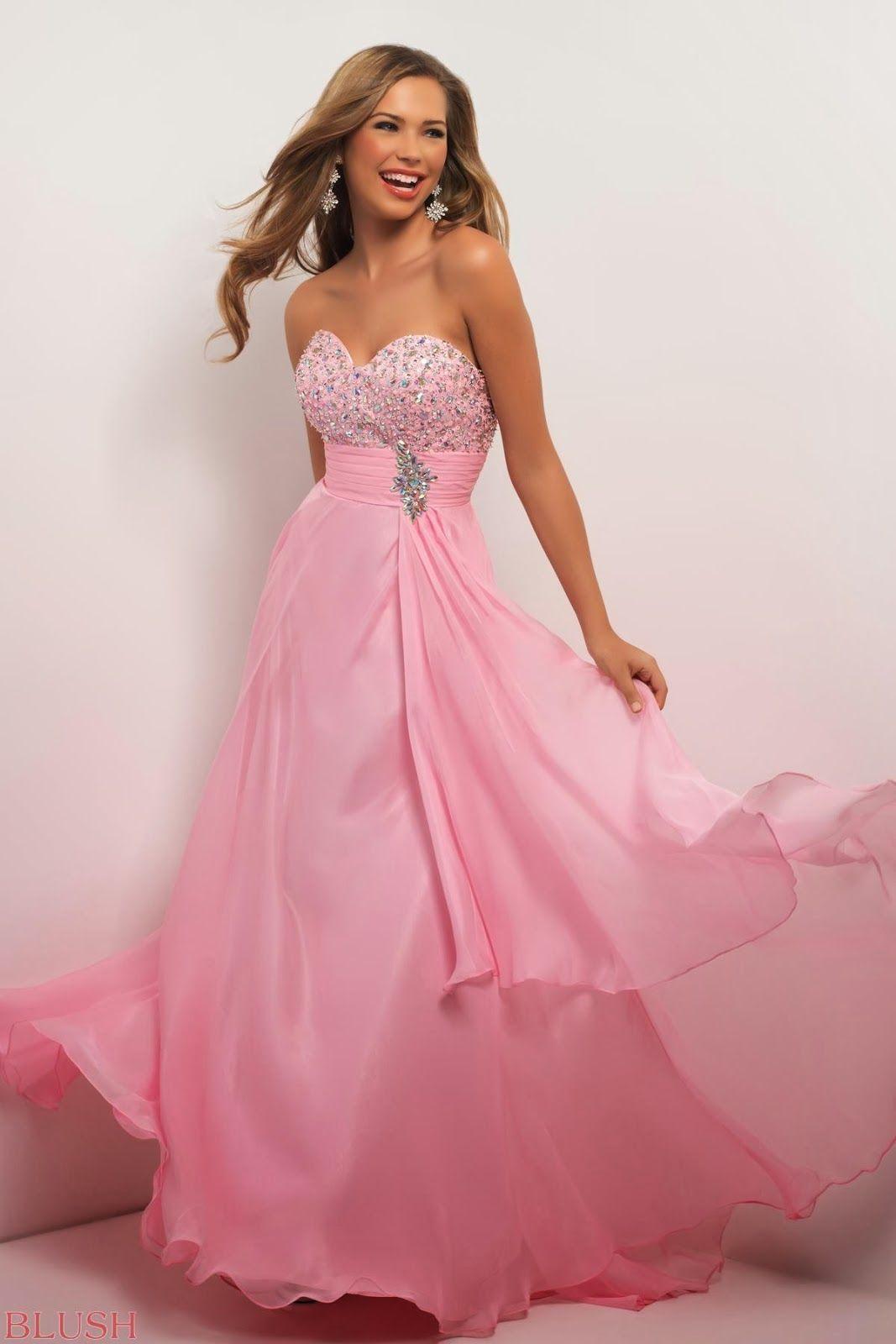 vestidos-rosa-volados-juvenil | Dresses / Fashion | Pinterest