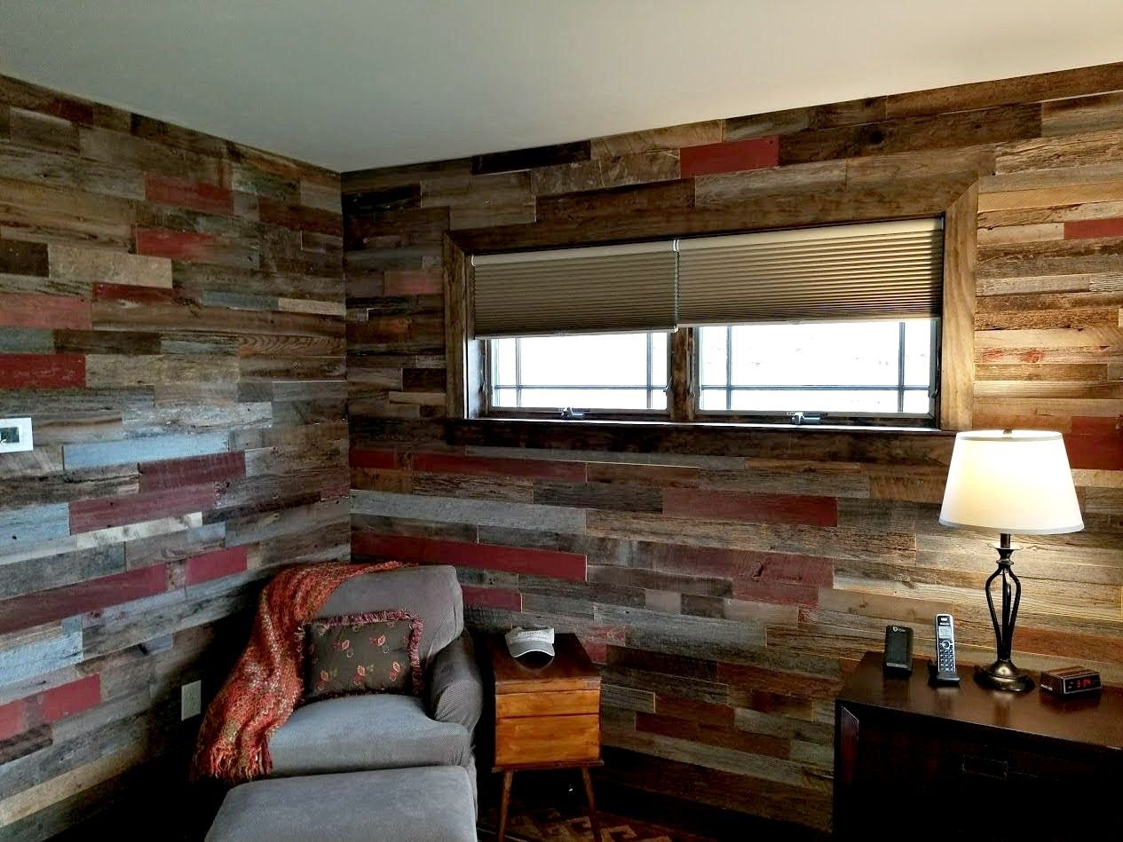 Ready To Install Red Grey Brown Mix Barnwood Planks Barn Siding Barn Wall Siding Reclaimed Wood Wall Red Brown Gre With Images Reclaimed Wood Wall Wall Planks Barn Wood