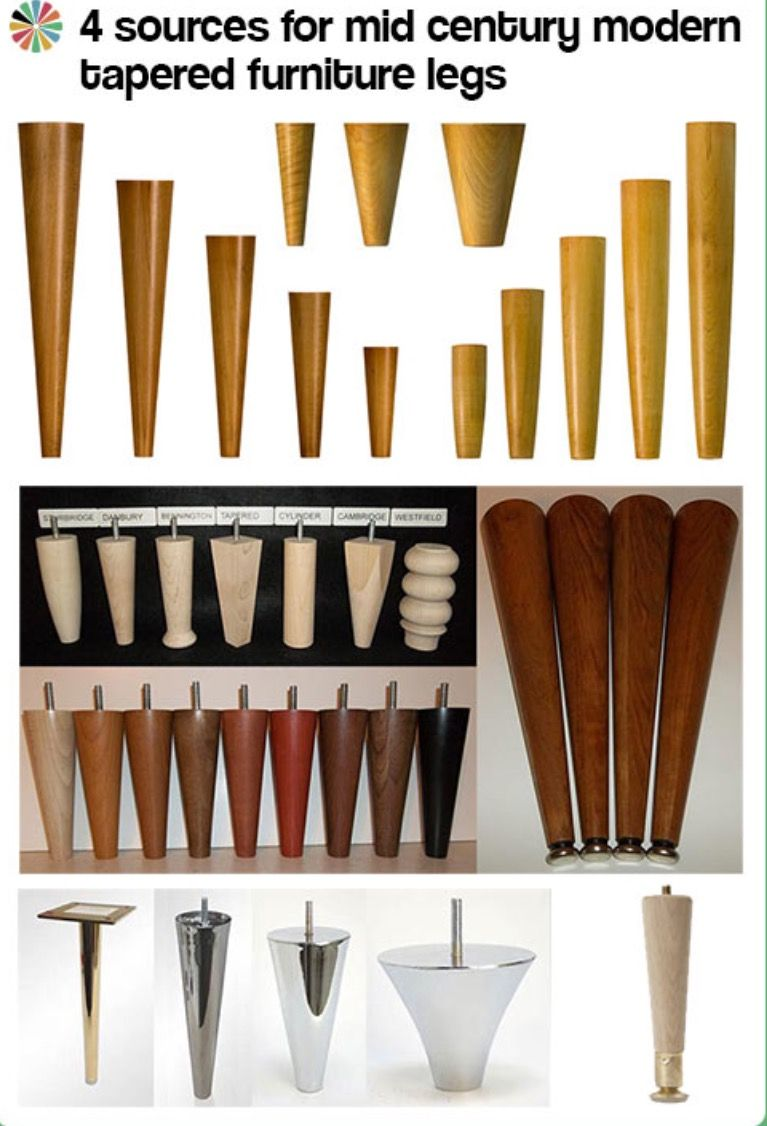 4 sources for mid century modern tapered furniture legs mid century modern design mid century
