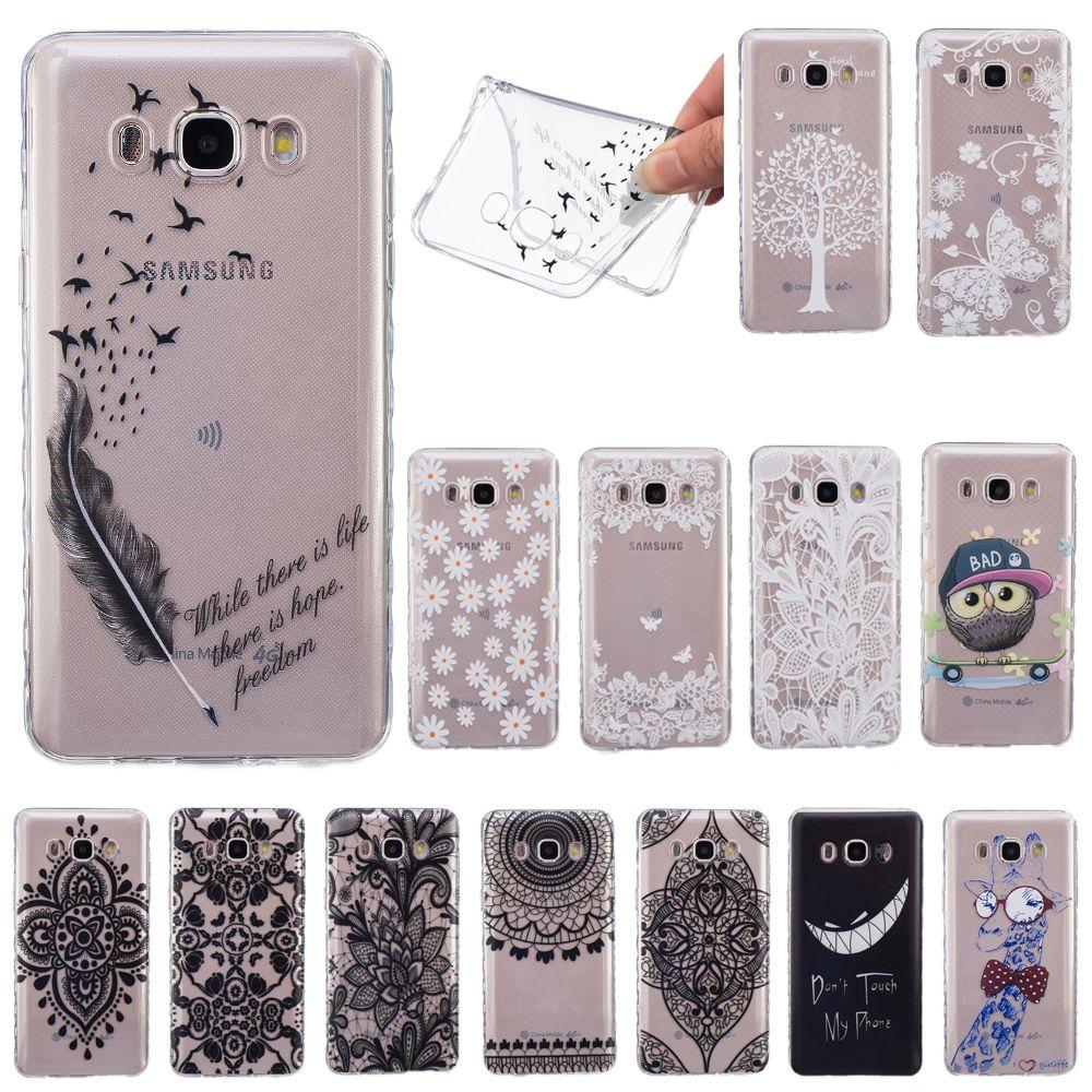 For Sumsung Galaxy J1 J5 J7 J3 2016 Fashion Transparent Soft Tpu Case For Samsung Galaxy J3 2015 J3 Pro Cute Silicon Back Cover Samsung