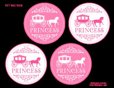 Pink Princess Printable Gift Bag Tags Pinkprincess Party Gifts Disney