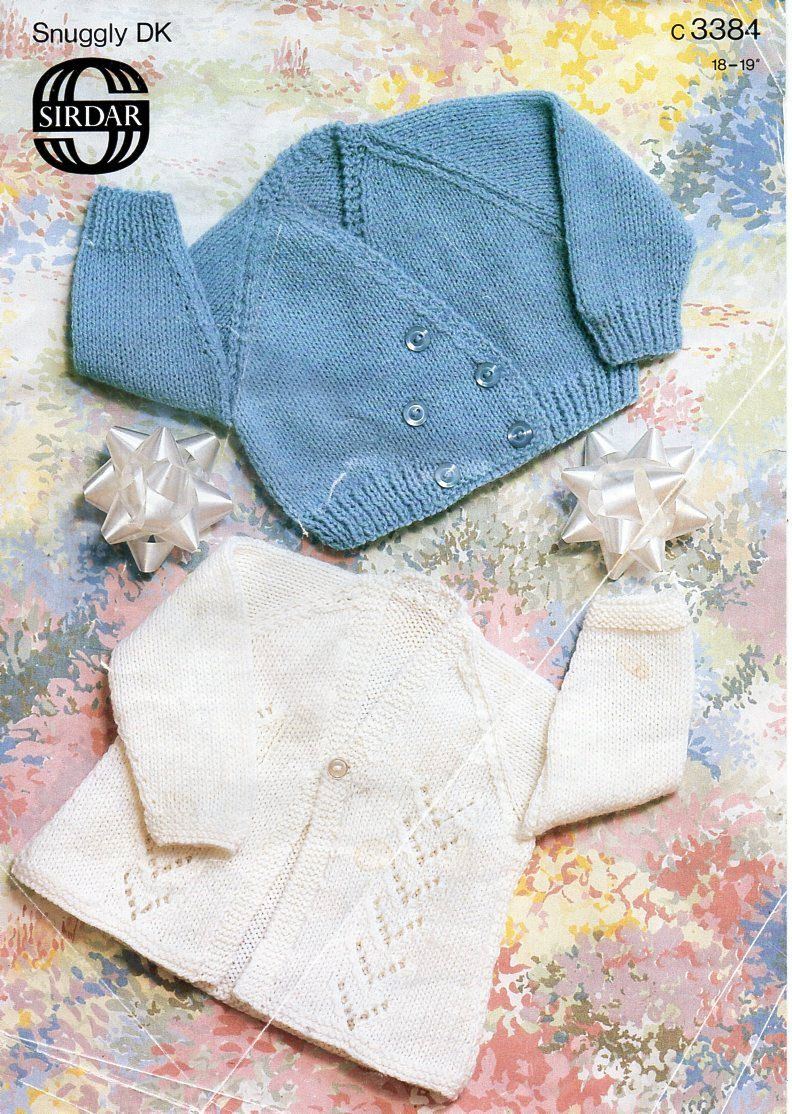 9cecfdc61 vintage baby crossover cardigan matinee coat knitting pattern PDF DK ...