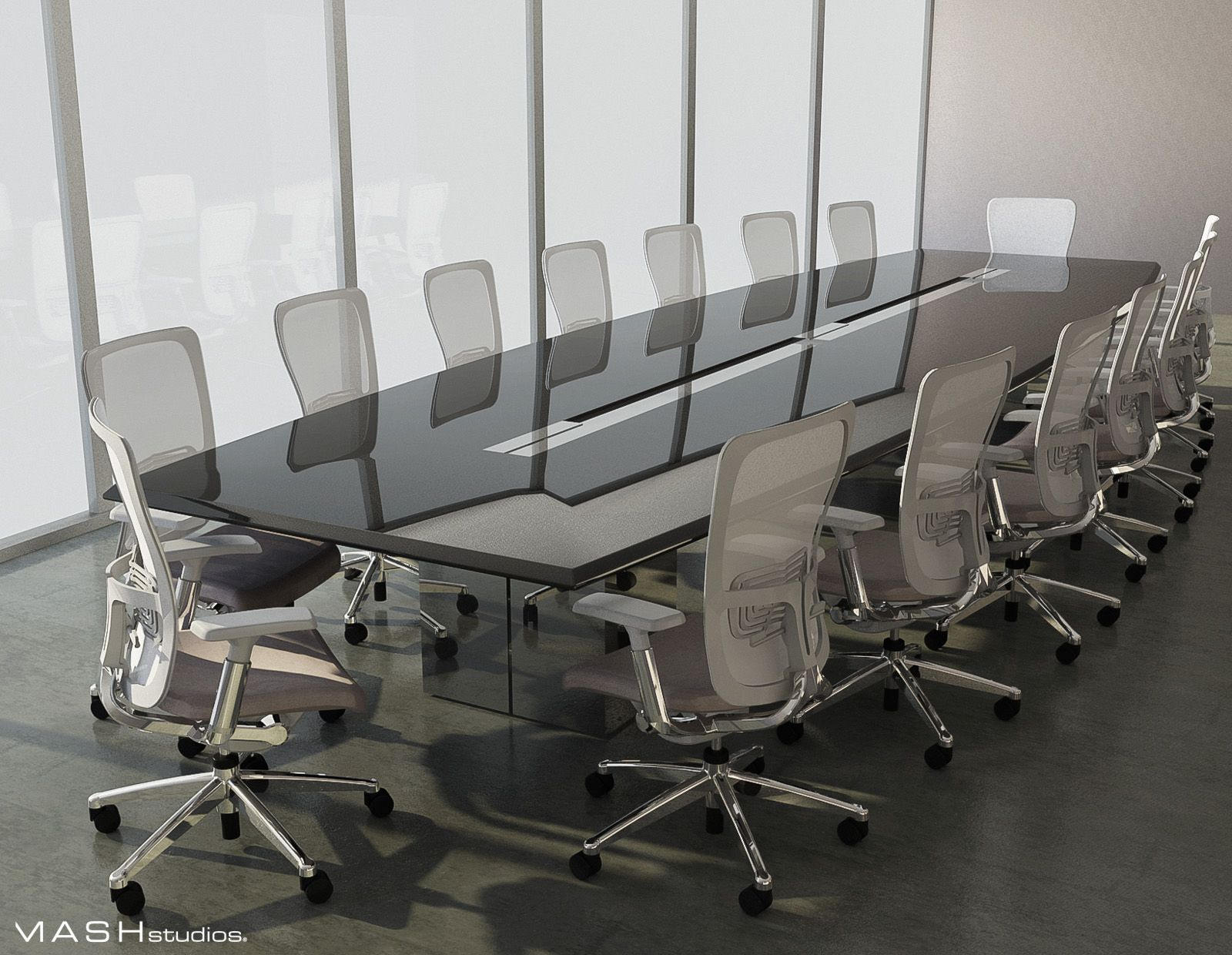 Mashstudios A Beautiful Rendering Of One Of Our Split Base Conference Table Designs Conference Table Design Custom Office Furniture Table Design