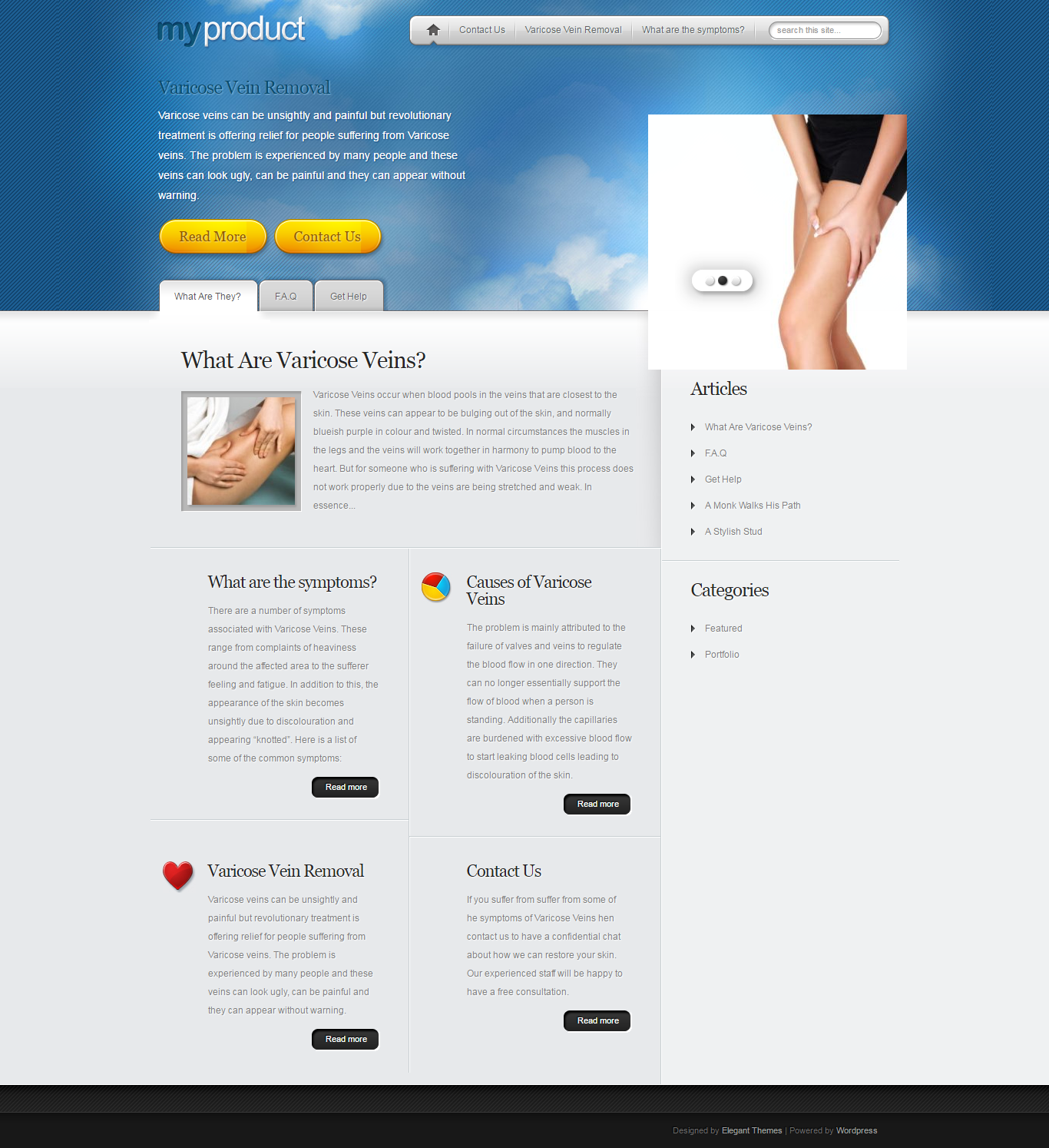Varicose veins can be unsightly and painful but revolutionary varicose veins treatment is offering relief for people suffering from varicose veins.  http://varicoseveinstreatment.org.uk/