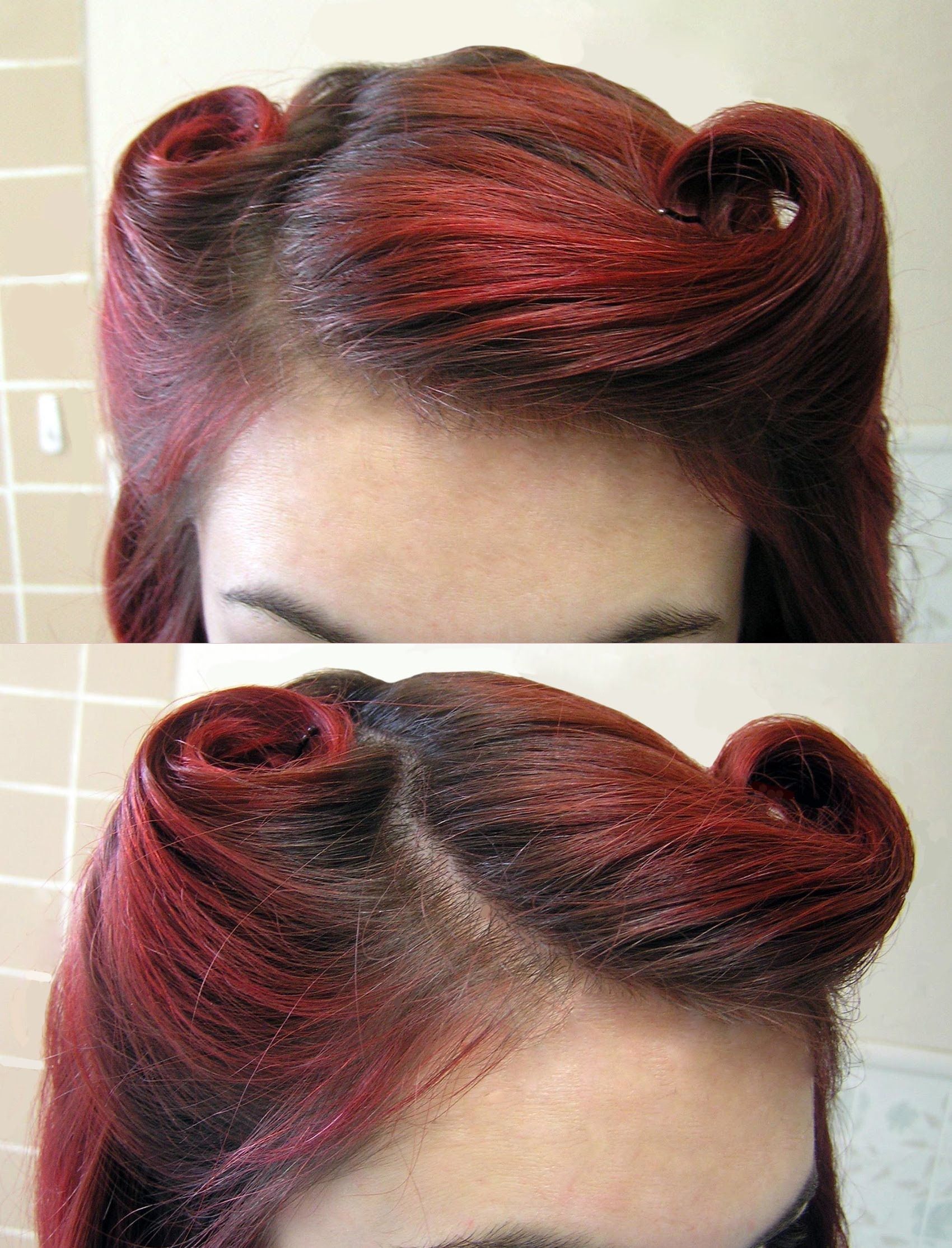 Diy hair vintage us victory rolls hair ideas pinterest