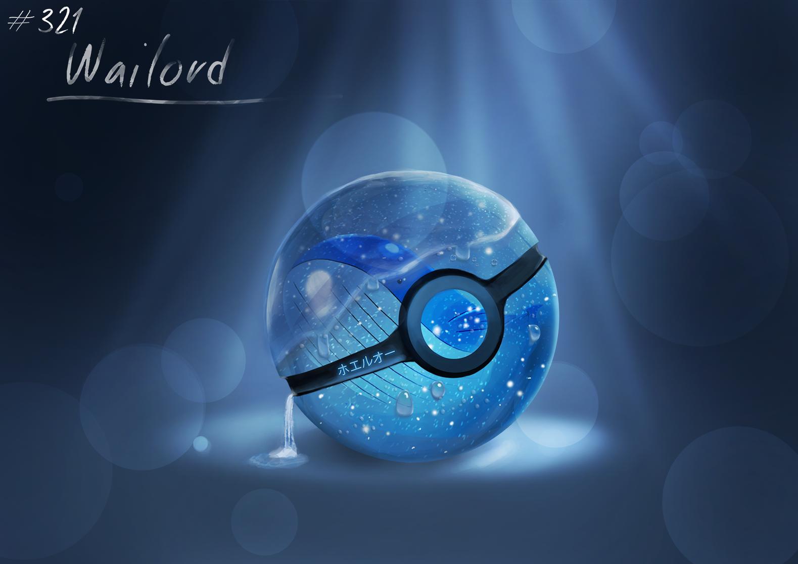 Conceptual Pokeball ~ Wailord by Lun1c.deviantart.com on ... Wailord Wallpaper