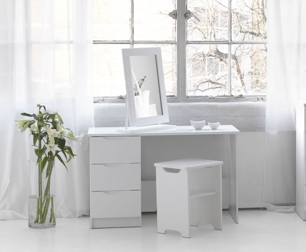 Trend White High Gloss Dressing Table