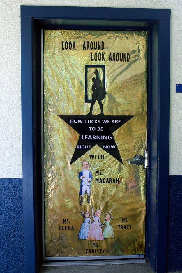 Hamilton Door Decoration Teacher Appreciation idea & Hamilton Door Decoration Teacher Appreciation idea | Door Decoration ...