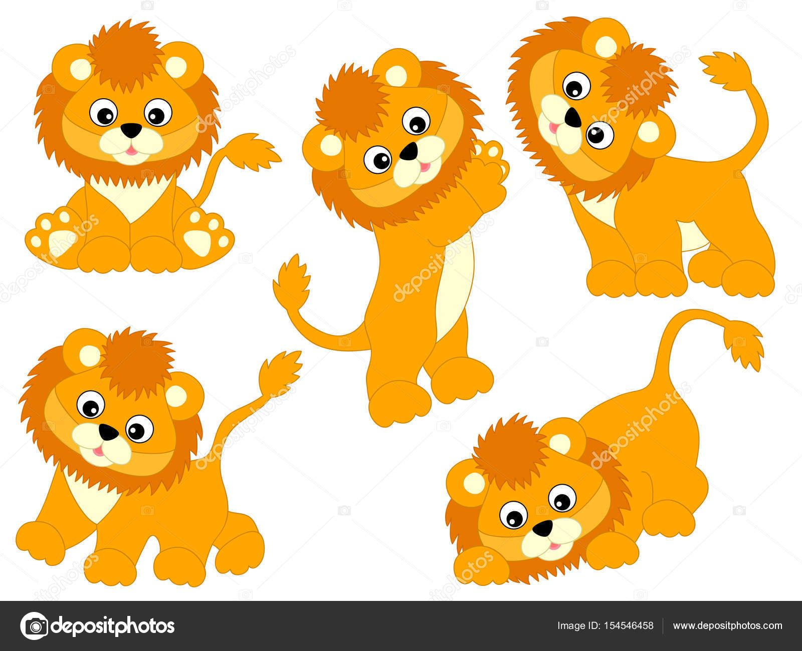 Download Vector Lions Set — Stock Illustration in 2020